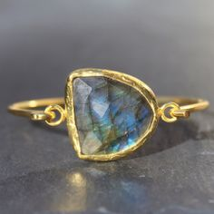 Old San Juan Bracelet - 24k Gold Dipped Iridescent Night Labradorite C – MeiElizabeth