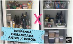 Despensa organizada é despensa prática, você ganha tempo na procura dos itens, muito mais espaços, e acredite: economiza  $$ no fim do mês.
