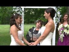 "Alexa & Stephanie's vows - ""Yours are the sweetest eyes I've ever seen ... How wonderful life is now you're in the world"" ~ Elton John song"