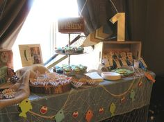 "Fishing Themed Party ""The Big One"" Bridal Showers, Corporate Events, Baby Showers, Bachelorette/Bachelor Parties, Co-ed parties, BBQs, Sweet 16, Weddings, Birthdays, Bar Crawls, Surprise Parties, Celebration of Life, Retirement Parties, Reunions, Business Meetings, Sporting Events, Scavenger Hunts, and more! My Big Day Event Planning in Colorado & Wyoming. http://www.mybigdaycompany.com/ #theme #party #event #ideas #creative #original #unique"