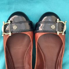 Tory Burch Noel Leather Flats REDUCED!! They are in excellent condition. Only worn a few times. I bought them at Nordstrom for $250 plus tax. Very comfy, doesn't hurt when you walk. These are hard to find. Tory Burch Shoes Flats & Loafers