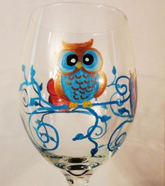 owl wine glass from Tphatter.com