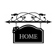 Sticker Home style enseigne forgée