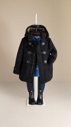 JoJo Maman Bébé Navy Duffle Coat - Infant & Toddler | Coats ...