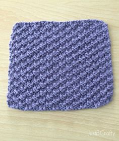 NEW Free Pattern! Textured Knit Dishcloth |Just B Crafty