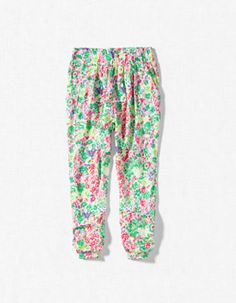 FLORAL HAREM PANTS.ZARA.GIRLS