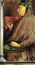 Anonimo, Ritratto di Petrarca, XV sec., dipinto, Studiolo di Federico da Montefeltro, Palazzo Ducale, Urbino  #TuscanyAgriturismoGiratola
