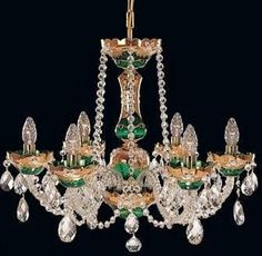 Tomia L 500/06/3 High Enamel The Princess 6-Light Crystal Chandelier