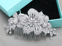 Vintage Style Hair Comb Rhinestone Hair Comb Bridal by BlingGarden
