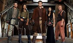 Adam Baldwin, Nathan Fillion, Gina Torres, Alan Tudyk, and Morena Baccarin in Serenity Joss Whedon, Firefly Serenity, Serenity Movie, Nathan Fillion, Buffy, Firefly Cast, Science Fiction, Comics, Movies