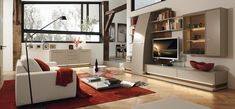 White Red Living Room Ideas With Black Floor Lamp Red Cushions Arm Sofa Plus Coffee Table Furniture