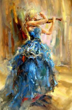 Anna Razumovskaya Dancing With a Violin 2 Painting anysize 50% off