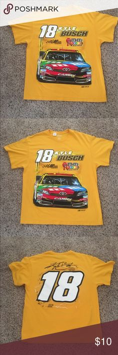 2012 NASCAR M&M Kyle Busch #18 T Shirt Size L 2012 Official NASCAR Kyle Busch #18 T Shirt M&M Official Licensed Product Adult Size L. Excellent Condition, no Holes or Stains. Perfect for the NASCAR Enthusiast. NASCAR Shirts Tees - Short Sleeve