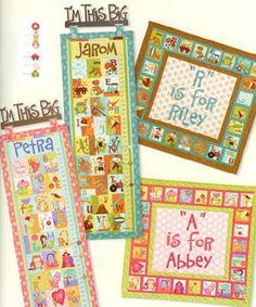 From Curiosities and Mischief By Nancy Halvorsen craft quilt, grandbabi craft, alphabet quilt, babychildren quilt, nanci halvorsen