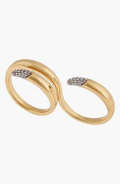 Rachel Zoe two-finger ring.