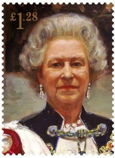 Royal Mail commissions portrait of the Queen for Coronation stamps. 2000 Sergei Pavlenko