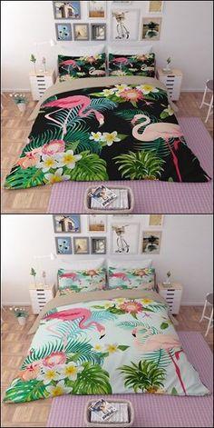 Tropical Flamingo Duvet Cover Bedding Set
