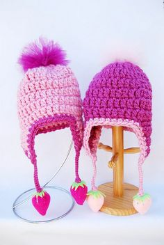 Strawberry Hats Knitting Designs, Winter Hats, Strawberry, Quilting, Crochet Hats, Etsy, Ideas, Fashion, Knitting Projects