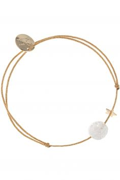 a tiny #star and a disc charm adorn the lovely #bracelet I NEWONE-SHOP.COM