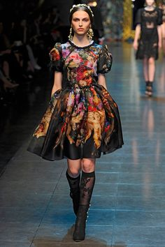 Dolce Gabbana fw2012. I could pin the entire collection. It was so beautiful...
