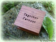 wedding ring box, wedding ring pillow, ring bearer pillow, wooden box   simplycoolgifts - Wedding on ArtFire