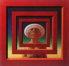 History of Art: Rudolf Hausner Magritte, Psychedelic Art, Rudolf Hausner, Science Fiction, Complex Art, Mural Painting, Paintings, Illustrations, Fantastic Art