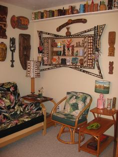 Tiki bar decor at home -- readers photos of their tiki style