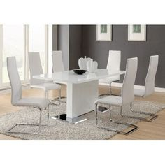 Amazing Dining Room Contemporary Dining Room Sets With Rectangular And White Dining Room Table Interior Collection. Part of White Dining Room Table on palomariverwalk. White Dining Room Table, Dining Table Chairs, Dining Room Furniture, Coaster Furniture, Modern Furniture, Room Chairs, Fine Furniture, Dining Area, Furniture Ideas