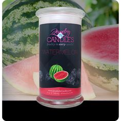 Enjoy a beautiful watermelon candle just in season!  July only - 20% off
