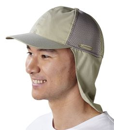 TMBC Tilley Cap with a Cape - Our cap with a cape has similar stylings of a traditional cap but also has an innovative cape that rolls down for sun protection. 3D mesh for breathability & the firm peak stays in place in windy conditions.