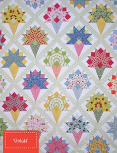 Gelati Quilt Pattern by Judy Newman of A Very Fine House