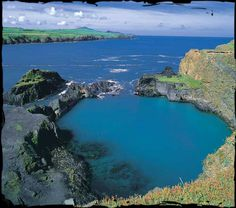 One of Wales' treasures, the Blue Lagoon in North Pembrokeshire