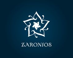 """Zaronios Logo design - Strong, mystical and memorable mark, Zaronios expresses the Mediterranean luxury at its best and would be perfect for a spa, a restaurant or any business related to travel and tourism. The mark portrays an Azahar flower formed by Z's which means """"the first and most precious of all the flowers"""". Price $475.00"""