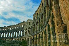 Pula Arena, Croatia  http://fineartamerica.com/products/1-pula-arena-croatia-photos-by-zulma-art-print.html