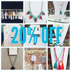 All Jewelry 20% OFF thru Sunday. No exclusions!!! #madisonsbluebrick #downtownhotsprings #jewelry #sale #shoplocal