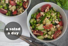 Salad Recipes : Thai-inspired Pea and Cucumber Salad Recipe