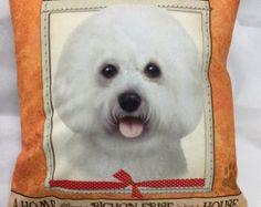 BICHON FRISE beaded keepsake dog art pin pendant by thelonebeader