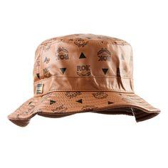 Rok Leather Bucket Hat in Beige