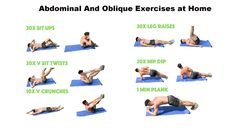 Abdominal And #Oblique #Exercises at Home #health #fitness #health #abs #absworkout