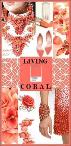 05d50c6c4be Living Coral- Pantone Spring  Summer 2019 Color    by Reyhan S.D.