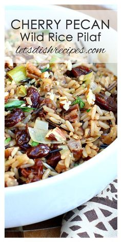 Cherry Pecan Wild Rice Pilaf Recipe is a delicious and easy holiday side dish. Cherry Pecan Wild Rice Pilaf Recipe is a delicious and easy holiday side dish. Easy Rice Pilaf, Wild Rice Pilaf, Rice Pilaf Recipe, Vegetable Side Dishes, Vegetable Recipes, Vegetarian Recipes, Cooking Recipes, Delicious Recipes, Rice Side Dishes