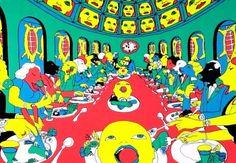 Sponge Bob Squarepants 3 x Sheets of Shiny Foil Stickers Party Bags James Rosenquist, Claes Oldenburg, Jasper Johns, Roy Lichtenstein, Party Bags, Andy Warhol, Spongebob, Artist At Work, Creative Art