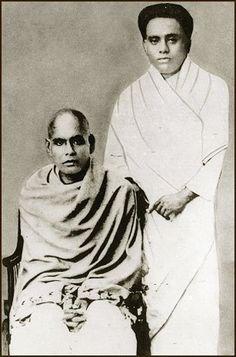 Sree Narayana Gurudevan with Kumaranasan.