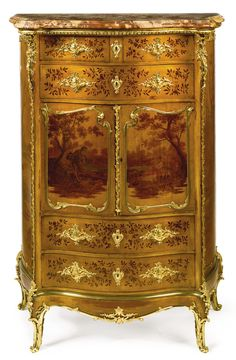 Joseph-Émmanuel Zwiener<br>fl. circa 1875-1900<br>A Louis XV style gilt-bronze mounted vernis Martin decorated side cabinet<br>Paris, late 19th century | Lot | Sotheby's