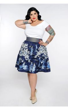 Pinup Girl Clothing- Marilyn Top in White - Plus Size | Pinup Girl Clothing