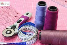 Armarinho, carretel, fita métrica, fita, costura, cortador circular de tecido,