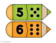 Back to School Number Matching - Kindergarten Math Centers Preschool Math Games, Numbers Preschool, Learning Numbers, Kindergarten Worksheets, Teaching Math, Toddler Activities, Childhood Education, Kids Education, Arabic Alphabet Letters