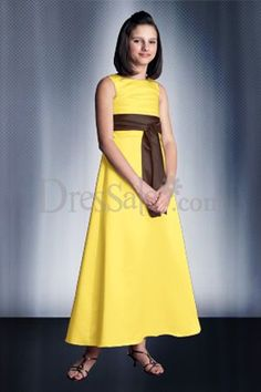 96 best yellow flower girl dresses images on pinterest flower traditional yellow flower girl dress with sash brown could be changed to black mightylinksfo