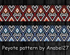Peyote Pattern 21  bead  patterns peyote bracelets patterns