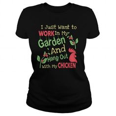 Spiffy pet products... I just want to work in my garden and hang out with my chicken!  T-shirt.